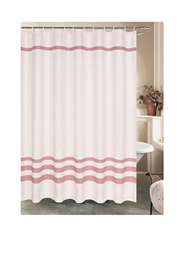 sara-lee-burgandy-and-ivory-fabric-shower-curtain