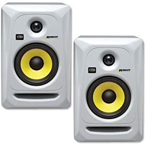 KRK RP5G3W-NA Rokit 5 Generation 3 Powered Studio Monitor - White - Pair by KRK
