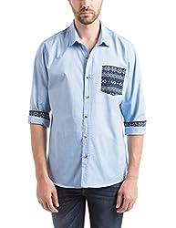 Prym Men's Casual Shirt (8907423052246_2011543602_Large_Blue)