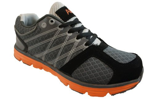 Air Tech Boys Grey Orange Sports Performance Shoes Fashion Running Trainers Size UK 13-6
