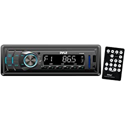 Pyle PLR34M - Radio para coches de 240 W (MP3, USB, SD, 3.5 mm, AM, FM), negro (importado)