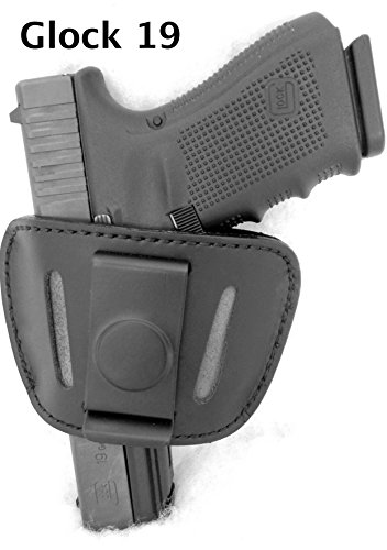 DTOM Premium LEATHER (not synthetic) Universal IWB or OWB Ambidextrous Belt SLIDE Holster (1911 Belt Slide Holster compare prices)