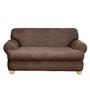Amazon Com Sure Fit Stretch Faux Leather 2 Piece T Sofa