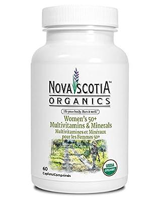 Nova Scotia Organics, Women's 50+ Multivitamins & Minerals, USDA Certified Organic, 60 easy to swallow caplets
