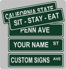 Custom Street Sign 4\
