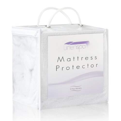 Find Bargain LinenSpa® 100% Waterproof Mattress Protector-Eliminates Dust Mites -15 Year Warranty, Queen