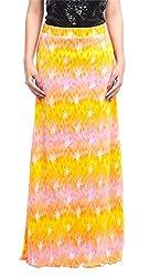 ZOYS Women's Lycra Regular Fit Skirt (ZOYSMS04 _ 30, Multicolor)