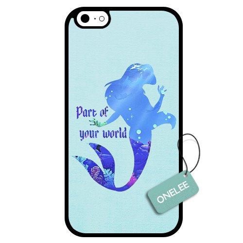 Onelee(Tm) - Customized Disney The Little Mermaid Ariel Princess Art Design Tpu Case Cover For Apple Iphone 6 - Black 04