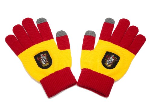 Harry Potter Touchscreen Gloves By Cinereplicas - For Smartphone & Tablets (Gryffindor Red & Yellow)