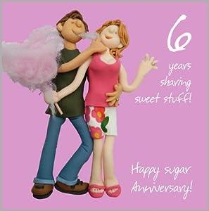 6th Wedding Anniversary Gift For Husband : 6th Wedding Anniversary Card: Amazon.co.uk: Kitchen & Home