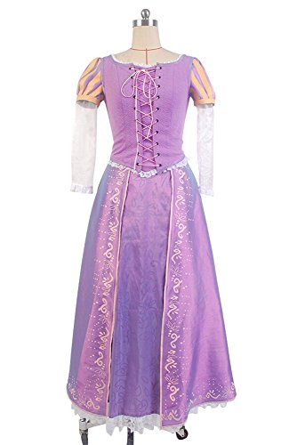 Sidnor Tangled Halloween COSplay Costume Princess Rapunzel Dress Ball Gown Outfit Suit