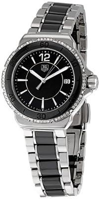Tag Heuer Women's 'Formula 1' Black Diamond Dial Ceramic Watch WAH1212.BA0859