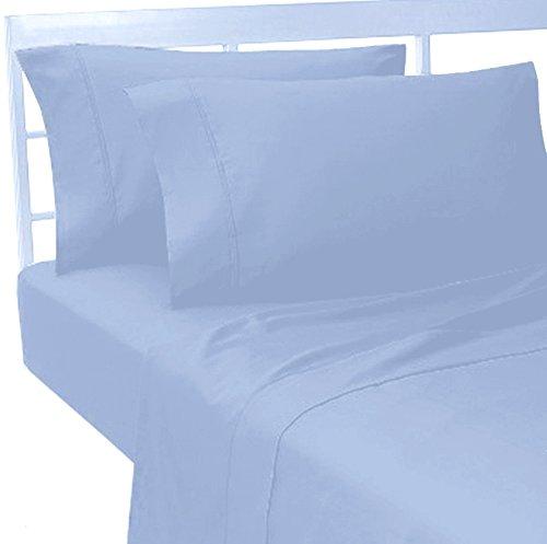 Marrikas 100% Viscose From Bamboo California King Sheet Set Blue front-999292