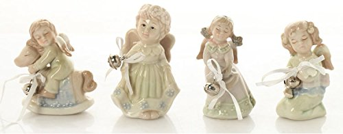 Home Decorative Ceramic Angels Figurines, Angel Statues, Bells Angels