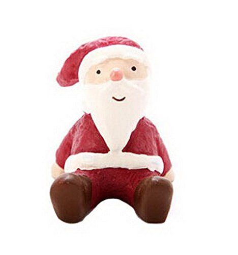 Christmas Themed Animal Ornaments Resin Look Up to the Sky--Santa Claus