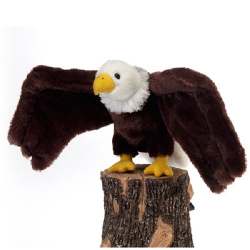 "9"" Bald Eagle Bird Plush Stuffed Animal Toy by Fiesta Toys"