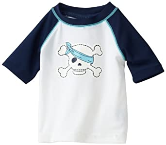 Flapdoodles baby boys infant pirate rashguard for Baby rash guard shirt