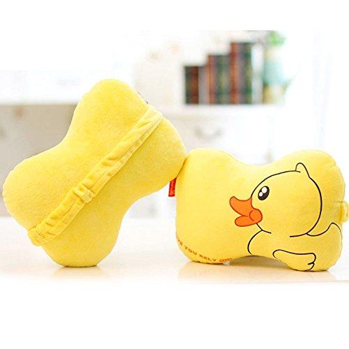 Lovely Rubber Duck Car Pillow Neck Rest Pillows 2pcs