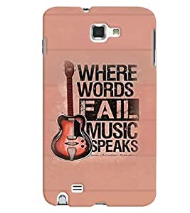 PrintVisa Quotes & Messages Music 3D Hard Polycarbonate Designer Back Case Cover for Samsung Galaxy Note 2