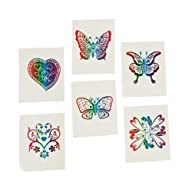 72 Rainbow Glitter Temporary Tattoos…