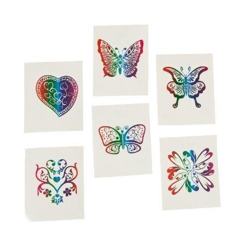 fun-express-72-rainbow-glitter-temporary-tattoos-party-favors-novelty