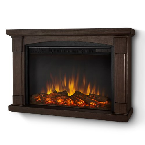 Real Flame 770-X-Co Brighton Slim Line Wall-Hung Electric Fireplace In Chestnut Oak ? Mantel Only