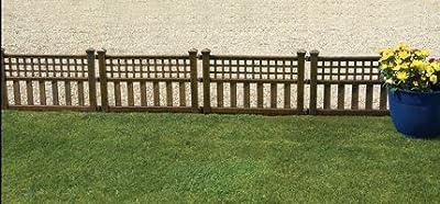 Greenhurst Fence Panels (Pack of 4) - Bronze