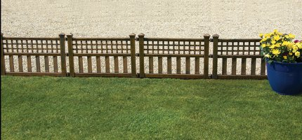 Greenhurst Fence Panels (Pack of 4) - Bronze