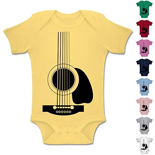 Strampler-Motive-Gitarren-Body-Kurzarm-Baby-Strampler-Body-fr-Jungen-und-Mdchen