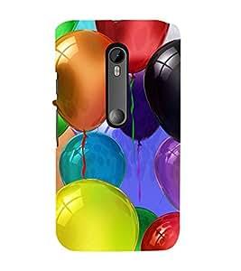 Colourful Balloons 3D Hard Polycarbonate Designer Back Case Cover for Moto G Turbo Edition :: Moto G Turbo (Virat Kohli Edition)