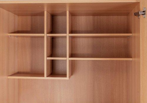 MEBASA MK0009S Büro-Küche Schrankküche Buche 100 cm mit ... | {Schrankküche büro 75}