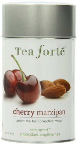 Tea Forte Skin Smart Loose Tea Canister-Cherry Marzipan, 3.17 oz, 50 servings