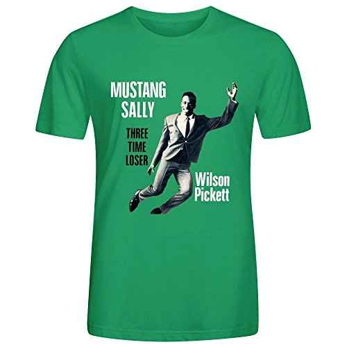 Wilson Pickett Mustang Sally Three Time Loser T Shirt Mens Green (Mean Green Juice compare prices)