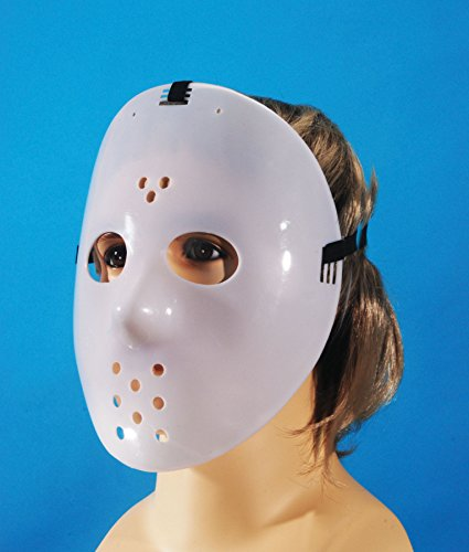Loftus International Glow-in-The-Dark Adjustable Star Power Jason Hockey Face Mask, One Size