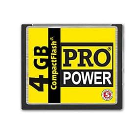 Pro Power 4 GB / 4096 MB Compact Flash Card ( CF ) for Digital Camera - Canon EOS 40D PowerShot S70 S60 S500 G6 A95 A85 Nikon D3 D300 Coolpix 8800 8700 8400 5400 Olympus Evolt E-500 - Manuf. By Dana Elec