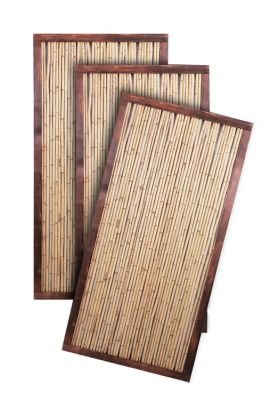 Bamboo Fence Panel with Frame - 6ft x 3ft