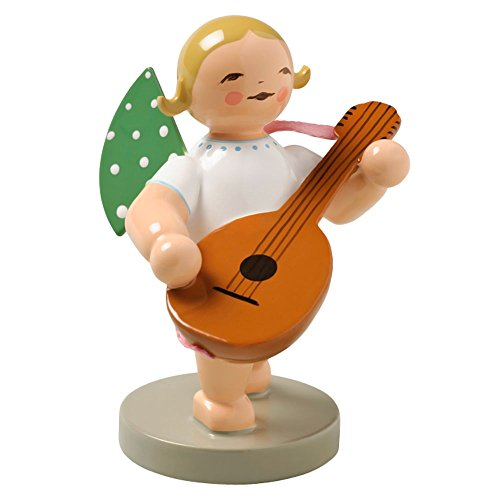 Wendt & Kuhn Blonde Hand Painted Grunhainichen Angel Lute Figurine