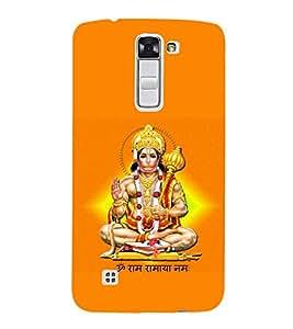 Fuson Premium Jai Hanuman Printed Hard Plastic Back Case Cover for LG K10