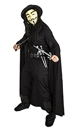 V for Vendetta Costume with Wig