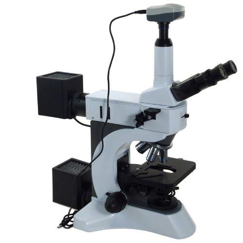 Omax 50X-1500X Trinocular Infinity Metallurgical Microscope With 9.0Mp Usb Digital Camera And 100X Dry Objective