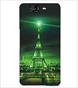 PrintDhaba Tower D-5421 Back Case Cover for MICROMAX A350 CANVAS KNIGHT (Multi-Coloured)