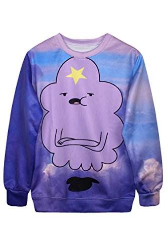 Pink Wind Women Adventure Time Printed Sweater Jumper Pullovers