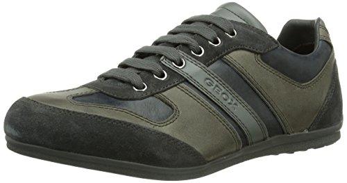 Geox U HOUSTON, Sneaker Uomo, Grigio (Grau (CHARCOALC9005)), 43