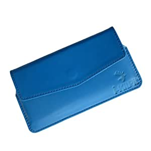 i-KitPit : Genuine Leather Pouch Case Cover For Nokia Lumia 928 (SKU BLUE)