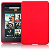 AMAZON KINDLE FIRE TABLET SILICONE SKIN CASE / COVER / SHELL - REDby TERRAPIN