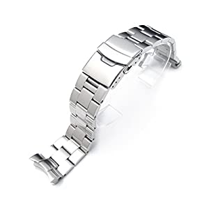22mm Brushed Oyster Solid Link 316L Stainless Steel Bracelet for Seiko 007 Diver