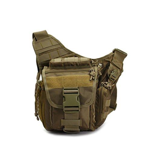 Klau Sport Outdoor Military Men's SLR Photography Camera Saddle Equipment Ultra-light Shoulder Bag Multi-functional Tactical Messenger Bag for Hunting Camping Hiking Trekking