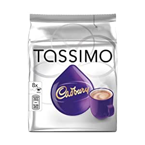 Tassimo Cadbury Hot Chocolate Capsules 8 Cups