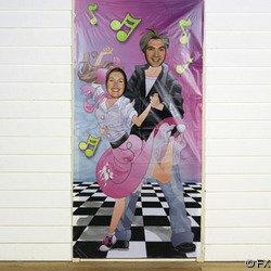 50's/FIFTIES Rock & Roll DOOR BANNER/PARTY PHOTO OP/Decoration/Music/DECOR/Poodle Skirt