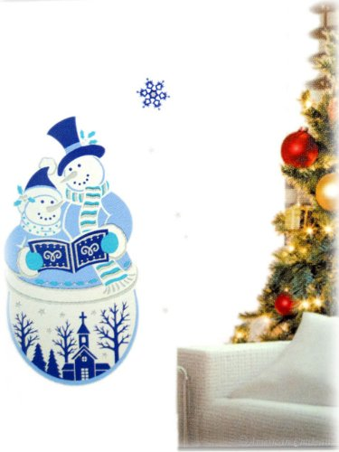 White Christmas Wall Sticker Kids Decor Vinyl Decal Snowman Wallies 1 Mural